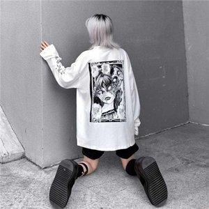 Dibujos animados de horror gráfico mujeres gótico impresión de gran tamaño rockulzzang punk camiseta camiseta top Harajuku Tshirt Streetwear Streetwee Tee