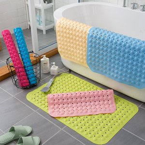 Bathroom Anti-slip Mats Shower Room Bath Anti-fall Water-proof Mat Household Toilet Bathroom Floor Mat Bath Mats 35*70cm XD24563