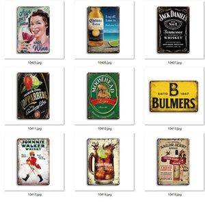 Metallo Birra Poster Corona Segni di latta extra Sistemi retrò Adesivi murali Decorazione Art Plaque Vintage Home Decor Bar Pub Cafe EEB5635