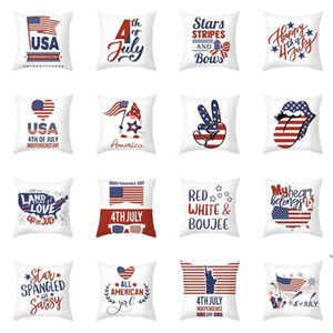 Independence Day Pillow Case 4th of July 18 Inch Throw Pillow Cover for Couch Sofa Patriotic Home Decor Pillow Case AHB5290