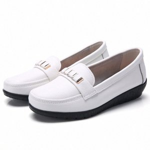 Woman Shoes Flats Moccasins Loafers Genuine Leather Oxford Girls Platform Fashion Casual Shoes Driving Size 35 44 Womens Sandals Comfo 16aR#