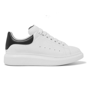 New Top Quality Designer shoes Men Women Back Platform White Genuine suede Leather Trainers Comfort Style Vintage Casual Shoes With Box