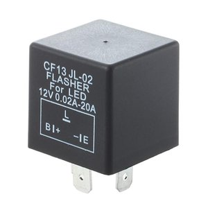 Motorcycle Helmets Electronic Car Flasher Relay To Fix LED Light Hyper Flash Fast Signal 3 Pin