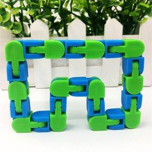 Wacky Tracks Snap and Щелкните Findget Toys Сенсорные головоломки стресс сброс игрушки змея головоломки для детей подросток подростки