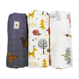 Infant Muslin Blanket Animal Baby Swaddle Baby Newborn Bathroom Towels Robes Infant Swadding Muslin Swaddle FWB5392