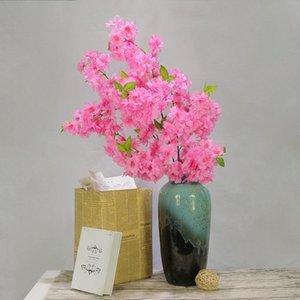Flor de cerezo artificial Ramas de cerezo Boda Cherry Blossom Estudio de boda Árboles decorativos Arco Flor artificial Nuevo Cher
