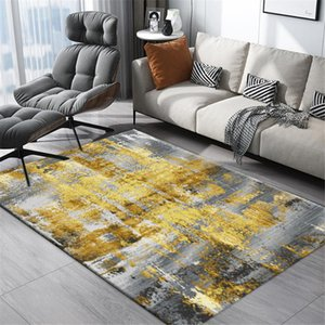 Modern Gold Gray Abstract Carpet Living Room Nordic Style Coffee Rug Floor Rug Mat Table Kitchen Mat Bedside Hallway Bedroom