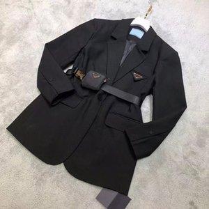 21FW Femmes Jacket Down Parkas Long Manteau Hiver Style avec Betl Corset Lady Slim Fashion Vestes Poche Supplément Manteaux chauds S-L