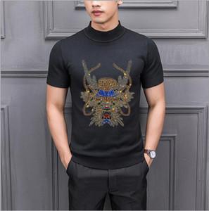 2021 New Brand Designer Pullover Diamond Stone Men Sweater Winter Warm Knitted Sweaters Mens Wear Slim Fit Knitwear C2bx