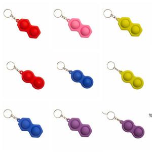 Anahtarlık Fidget Basit Demple Oyuncak Üçgen Anahtarlık Kolye Renkli Basınç Rölyef Araba Anahtarlık Süsler Hediye Anahtar Zincirleri EWD4846
