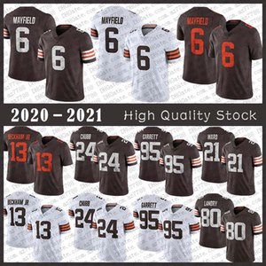 95 Myles Garrett Jersey Jersey 13 Odell Beckham Jr 6 Baker Mayfield 21 Denzel Ward 24 Nick Chubb 80 Jarvis Landry 27 Kareem Caccia Jerseys