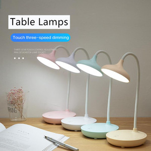 3 Modes Adjustable LED Desk Lamps Bedside Studying Lights Table Light Touch Control Table Lamps Night Usb Reading Light