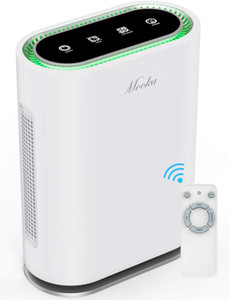MOOKA True HEPA+ Air Purifier, large room to 540ft², Ionic & Sterilizer, Odor Eliminator Air Cleaner for Office & Home, Rid of
