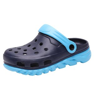 Women House Bath Shoes Summer Slippers Kids Parent Child Shoes Corcs Charms Flip Flops Slides Cute Cartoon Scandals