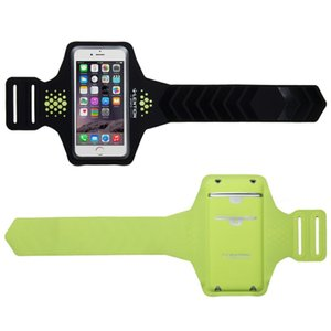 LENTION Sporty Series Armband, Water Resistant, Compatible with 5.1 to 6.2 inch Phones (16.9 inch, Black & Green)