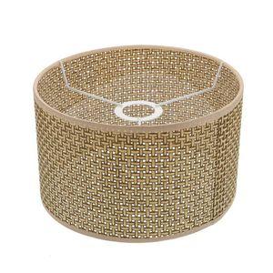 Lamp Covers & Shades 1Pc Modern Rustic Lampshade Imitation Rattan Weaving Cover Decor (Khaki)