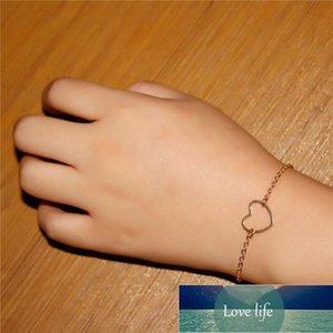 Charm Bracelets Creative Loving Heart Bracelet Simple Jewelry Vintage Hollow Peach Factory price expert design Quality Latest Style Original Status