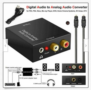 Optical Coaxial Toslink Digital to Analog Audio Converter Adapter RCA 3.5mm L OS