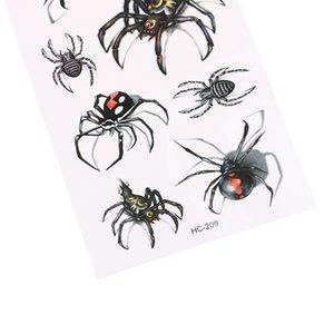 10Pcs Sexy Black Spider Temporary Tattoo Wall Sticker 19*9cm Waterproof Tatoo Body Art Flash Tattoo Stickers Home Decor