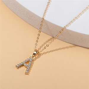 Fashion Pendant Designer Customized Letter Women Necklace Crystal Diamond Clavicle Luxurys Necklaces Lady Jewelry Gift C1-20