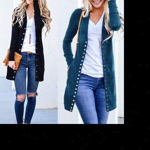 New Fashion Elegant Autumn Long Jacket Coat Women Ladies Long Sleeve Slim Knitted Cardigan Outwear Sweater Women Plus Size