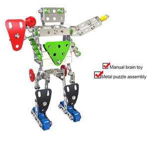 Novelty 3D Metal Material Blocks Brick DIY Model Bricks Building Blocks Assembling Robot Children's educational toys