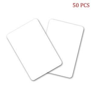 10pcs 50pcs Access Control Reader Fast Lettore NTAG215 Bianco Ascensore Blank Smart Smart non stampabile Durable Portable PVC NFC Cards Rewritable