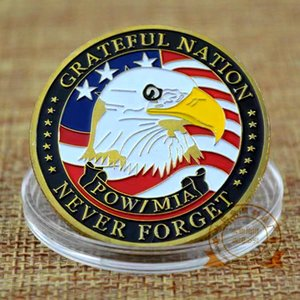 20pcs Challenge Coin USA Ejército Navy Air Force Marine Corps Costera Guardia Freedom Eagle Gold Plated Craft for Collection