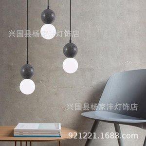 Pendant Lamps Nordic Modern Led Stone Light Lustre Suspension Chandelier Ring Lamp Home Lighting Dining Rooom