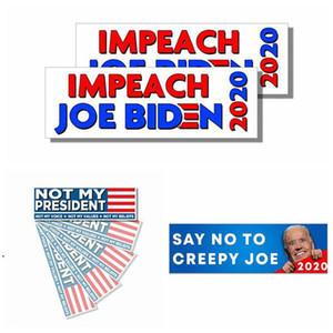 2021 Impeachment Biden Car Sticker 7.62x22.86cm U.S Presidential Campaign Not My President Bumper Car Sticker Vehicle Banner flags EWD4885