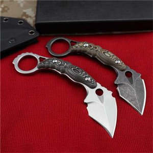 DC53 Karambit Mini Claw Knife Three Color Men's Handle Bm42 Pocket Defensive Knife Survival G10 Tactical Gift Camping Knife Christmas E Icxc