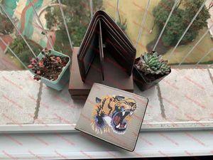 Лучшие высококачественные кошельки Paris Paris Paris Setide дизайнер мужской кошелек женский кошелек высокого класса животных кошельки держатель карты монет кошелек с коробкой hj1d8ff