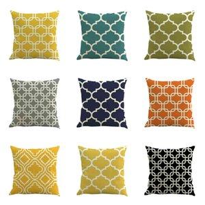 Color Abstract Geometric Linen Pillows Holding Pillowcas Car Office Sofa Cushions