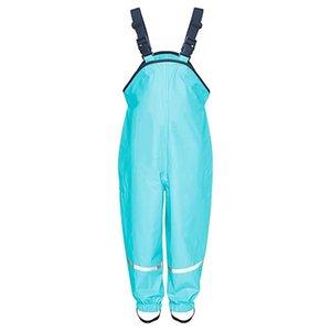 Unisex Çocuk Tulum Yağmur Dungarees Rüzgar Geçirmez Çamur Pantolon Rahat Erkek Kız Tulum Jartiyer Pantolon Tulum Kıyafetleri # 40