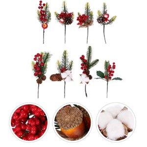 8pcs Christmas De Noël Décor Simulation Plante Berry Branches (Style aléatoire)