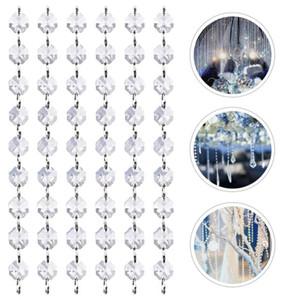 10pcs Crystal Bead Hanging Decor Crystal Bead String Pendant Hanging Decor