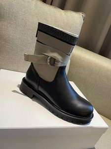 Luxury ankle boots with adjustable lace and notched sole zippered lucky star within box size 35-40