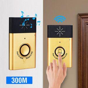 Video Door Phones Smart Home Security Bell Wireless Voice Intercom Doorbell 2-way Talk Monitor With Outdoor Unit Button Indoor Receiver