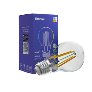 SONOFF B02-F A60 Smart WiFi LED Filament Bulb E27 Dimmable Light Bulbs Lamp Dual-Color APP Remote Control Work with Alexa