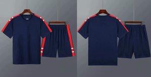 A15 Yüksekliği Kaliteli Futbol Jersey Nefes Futbol Gömlek Erkekler Spor Kitleri Mavi ve Sarı Maillot De Ayak