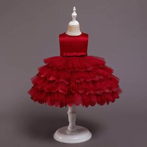 2021 new baby girl dress birthday party girls dresses 1st birthday dress for baby girl princess dress tiered tutu formal dresses B3750
