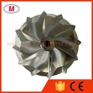GT15-25 49.70 67.40mm 6+6 blades Reverse Performance Turbocharger Turbo Billet compressor wheel Aluminum 2618 Milling wheel for Cartridge CHRA Core