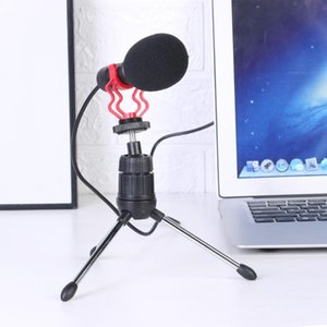 USB Wired Mute Microphone for Computer Phone Studio Recording Karaoke Vocal Omnidirectional Voice Loud Speaker Mic with Tripod