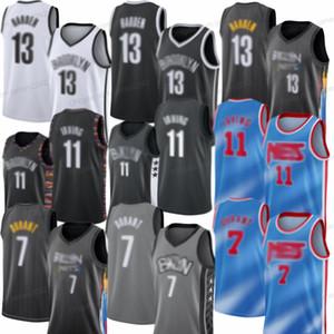 Yeni Ucuz 13 Serten Kyrie 11 Erkek NETT 2021 Kevin Yeni 7 Durant Brookllyn Basketbol Forması Dikişli Ücretsiz Kargo