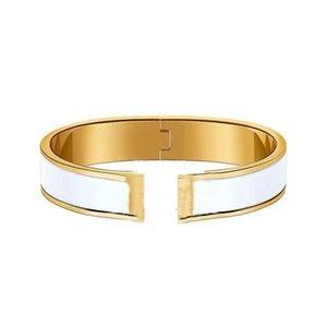 Charme Classic H ouverte Bangles dure corps dur en céramique rose Gold Couple Couple Coude Creative Haute Qualité Bijoux Avec Exquis Emballage Cadeau B