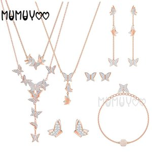 SWA Haute Qualité, Fashion Bijoux Charm Lilia Colorfly Colorfly Crystal Forme Insect Butterfly Collier pour femme