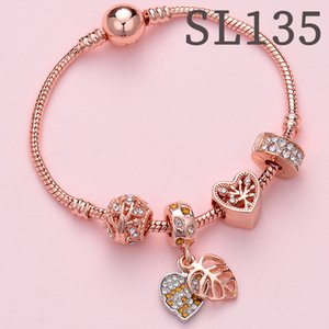 bracelet female high quality european and american alloy charm bangle and bracelet women rose gold fashion jewelry accessories pouch