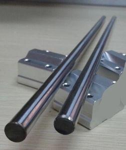 1 pcs OD 25mm-500mm Cylinder liner rail linear shaft optical axis +2 pcs LM25UU 25mm linear ball bearing bush bushing