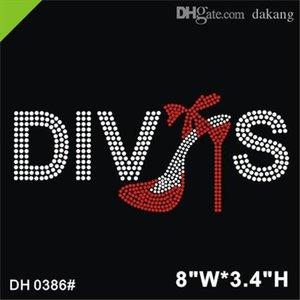 Livraison GRATUITE Diva s Custom Strass Iron sur Transferts de strass Transferts DIY DH0386 #