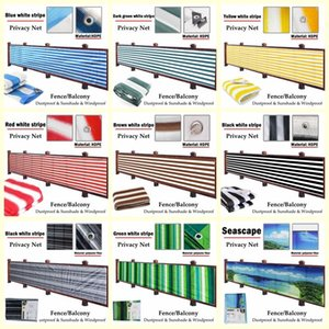 Shade 0.9x5m Stripes Balcony Fence Screen Stair Rail Mesh Anti-UV Windproof Apartment Protection Terrace Shelter Privacy Net